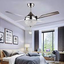 Tropicalfan <b>Crystal</b> Modern Ceiling Fan <b>Remote Control</b> Home ...
