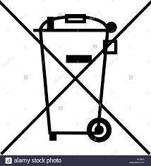 The crossed out wheelie bin symbol waste electrical and electronic