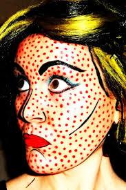roy lichtenstein pop art makeup costume