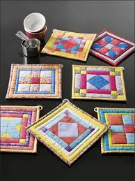 115 best Quilts: Coaster Ideas images on Pinterest | Bags ... & Quilting - Scrap Projects The quilt block patterns in this set of seven  pieced pot holders are ideal for using your most vivid scraps for color  play. Adamdwight.com