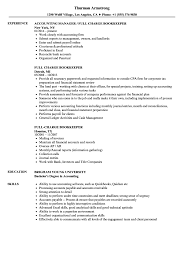 Full Charge Bookkeeper Resume Samples Velvet Jobs
