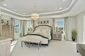 transitional master bedroom. Transitional Master Bedroom With Imbuia 5 Light Drum Pendant, Carpet, High Ceiling, Bergman