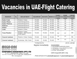 Uae Flight Catering – Senior Cook / Senior Waiter / Senior Waitress ...