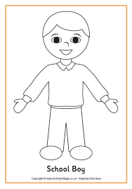 Downloadable coloring sheets for kids. Printable Boy And Girl Patterns School Boy Colouring Page Boy Coloring Coloring Pages For Boys Preschool Pictures