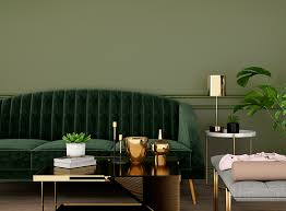 perfect olive green living room