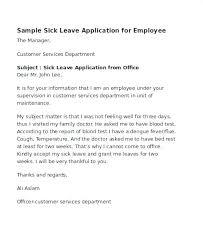 Sick Leave Request Sample Sick Leave Letter From Doctor Medical Form