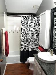 red bathroom sets shower curtains red black white red bath mat sets
