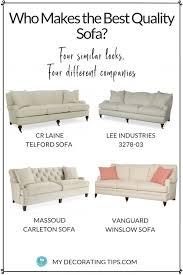 four white sofas
