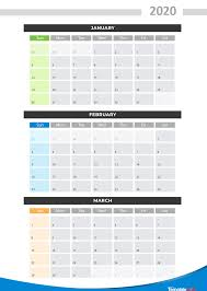 Calendar Year Quarters 2020 Printable Calendars Monthly With Holidays Yearly