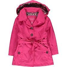london fog big girls pink belted trench coat size 7 8 10 12 14 16