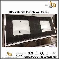 yeyang s black quartz bathroom vanity top for hotel project