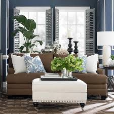 blue and brown living room décor ideas
