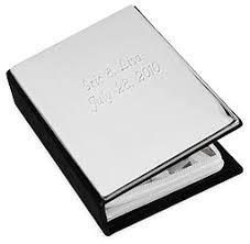 Silver Photo Albums Engraved Mini Silver Photo Album Hansonellis Com