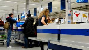 Small Picture Sofia Bulgaria 02 MAR 2016 Fast shooting inside a huge store