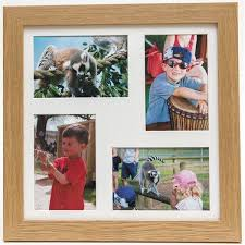 quad aperture oak photo frame 6x4