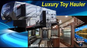 road warrior luxury toy hauler 5th wheel rv review model rw425 mhsrv