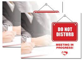Do Not Disturb Meeting In Progress Sign Printables Do Not Disturb Meeting In Progress Fellowes