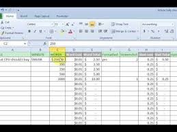 Basic Excel Formulas Add Subtract Divide Multiply Youtube