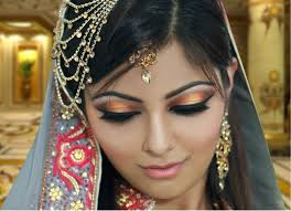 gold and peach mehndi makeup tutorial indian bridal asian arabic pa