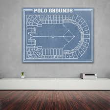 Kessler Stadium Seating Chart Vintage Print Of Polo Grounds Stadium Seating Chart By