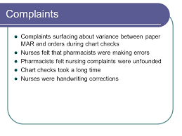 Chart Checks Nursing Potential Effects Medication Safety When Adding Emr Ppt