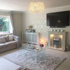 silver glitter wallpaper living room ideas