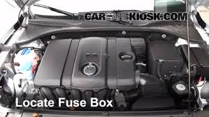 blown fuse check 2012 2016 volkswagen passat 2012 volkswagen locate engine fuse box and remove cover