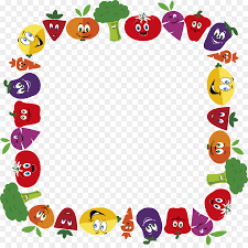 Vegetable Border Design Floral Design Border Clipart Vegetable Fruit Text