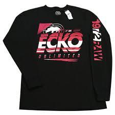 Ecko Unltd Rhino Logo Authentic Mens Black Zip Up Hoodie