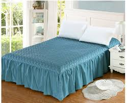 Aliexpress.com : Buy Cotton+Thick, add winter quilted bed skirt ... & Cotton+Thick, add winter quilted bed skirt Bed cover cotton Lace Elastic  band fitted Adamdwight.com