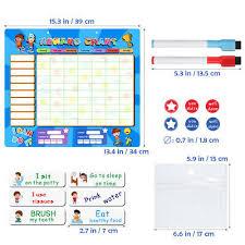 Good Chart For Kids Magnetic Star Reward Chart For Child Kids Good Behaviour