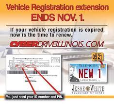 license plate sticker ends