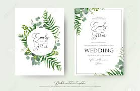 Wedding Invitation Floral Invite Thank You Rsvp Modern Card