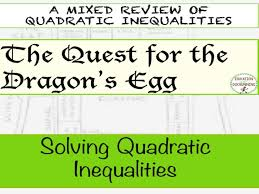 solving quadratic inequalities quest activity