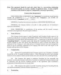 18+ Consulting Agreement Forms | Sample Templates