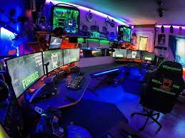 game room lighting ideas. officegaming room with wall to shelving and couchbed on behind game lighting ideas