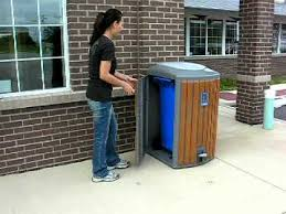 outdoor trash can. Outdoor Trash Can