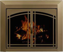 painting fireplace doors brass