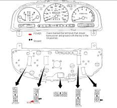 nissan pickup cab wd all gauges in instrument panel graphic