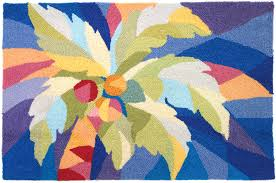 bright palm tree rug py sr009
