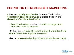 The Role Of Marketing For Non Profit Organizations Marketing