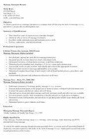 Physical Therapy Resume Examples Lovely Massage Resume Template Best