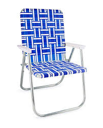 folding lawn chairs.  Chairs Lawn Chair USA Webbing Deluxe Blue And White With Arms And Folding Chairs