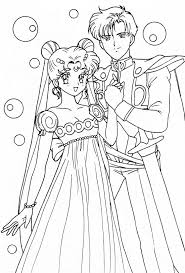 Princess Serenity And Prince Endymion Crystal Coloring Pages Download