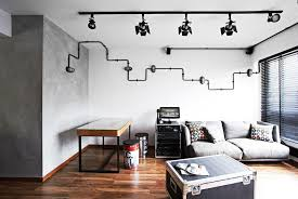 industrial style lighting for home. Chic Industrial Style Track Lighting 7 Amazing Hdb Flats In Sengkang And Punggol Interior For Home