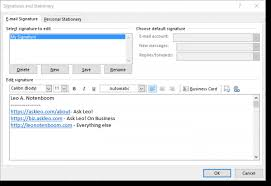 Phone Message Template For Outlook 2010 How Do I Get My Name Title And Other Information To Show At