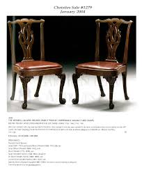 Chippendale Furniture Pair Of Early Chippendale Dining Chairs Boston Mass Furniture