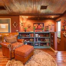 austin family room rustic design ideas pictures remodel and decor rustic tin ceilings