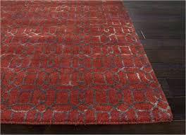 silk area rugs baroque hand tufted geometric pattern wool art silk red gray area rug wool
