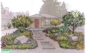 Front Door Garden Design Simple Garden Creation How To Draw A Perspective Sketch DrawnToGarden